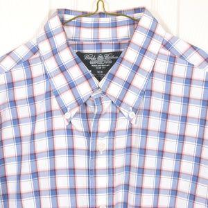 BrooksBros M Country Club Slim Cotton Button-down